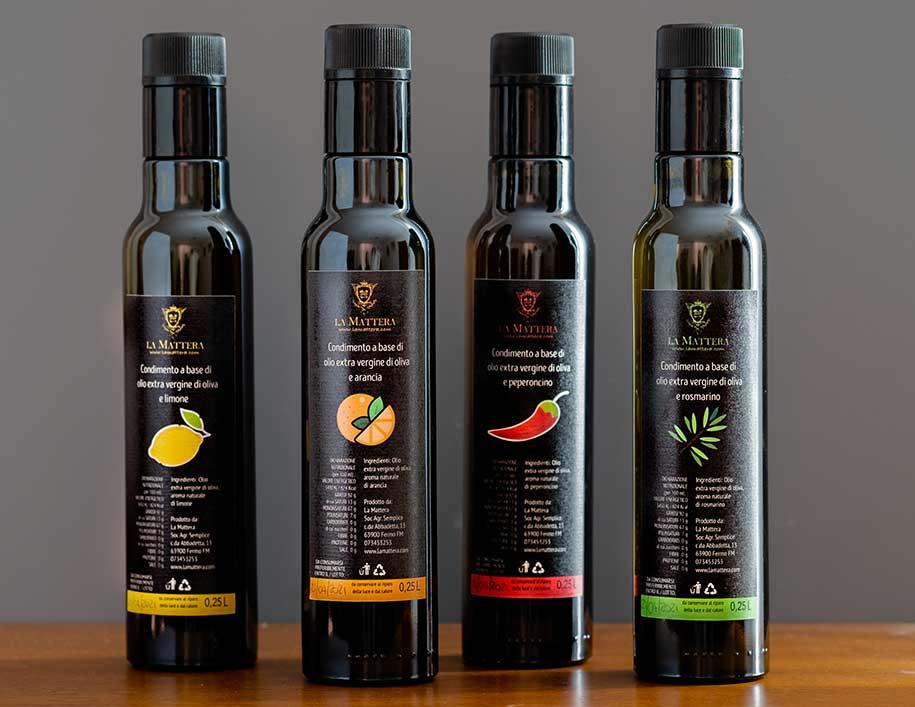2020-La-Mattera-foto-prodotti-oli-aromatizzati-olio-peperoncino-arancia-rosmarino-limone-condimenti