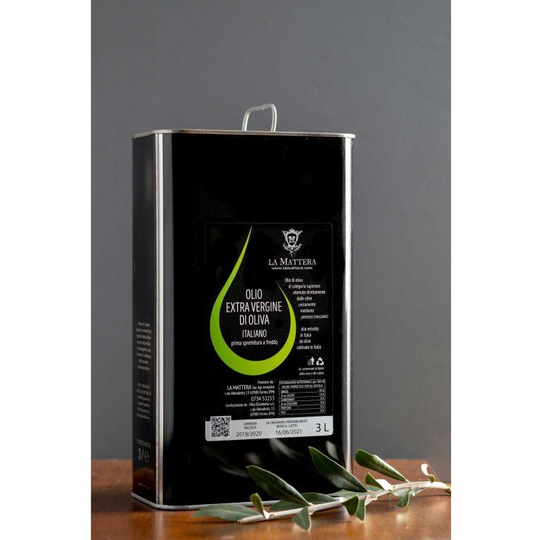 Olio extravergine di oliva lattina 3 litri 2020/2021