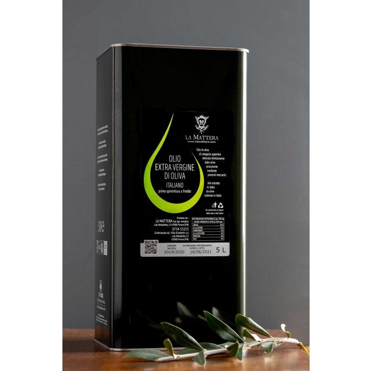 Olio extravergine di oliva lattina 5 litri 2020/2021